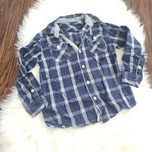 2/15$ 🔥 Long Sleeve Boy Button Down Shirt Size 6x